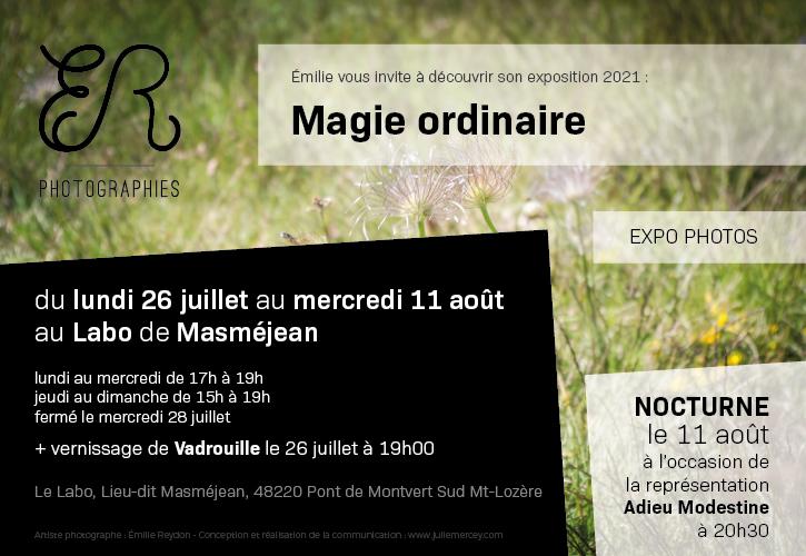 Émilie Reydon - ER Photographie - Cévennes - Lozère - Expo Photos - Magie ordinaire - Vadrouille - Adieu Modestine